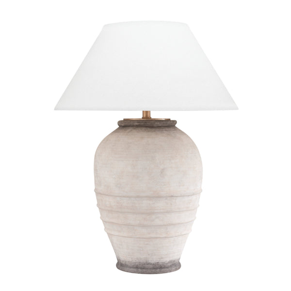 Hudson Valley Lighting L1371-ASH Decatur 1 Light Table Lamp in Ash