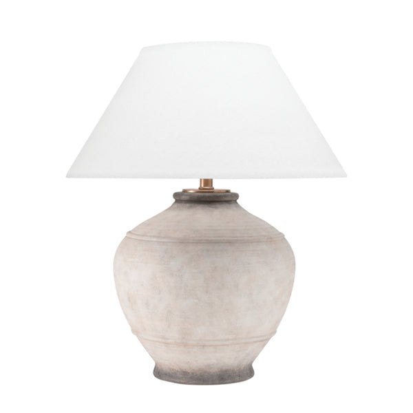 Hudson Valley Lighting L1373-ASH Malta 1 Light Table Lamp in Ash