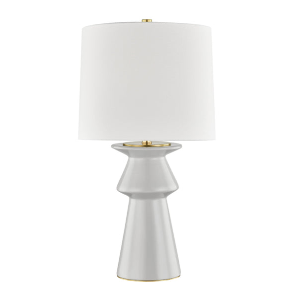 Hudson Valley Lighting L1419-GRY Amagansett 1 Light Table Lamp in Gray