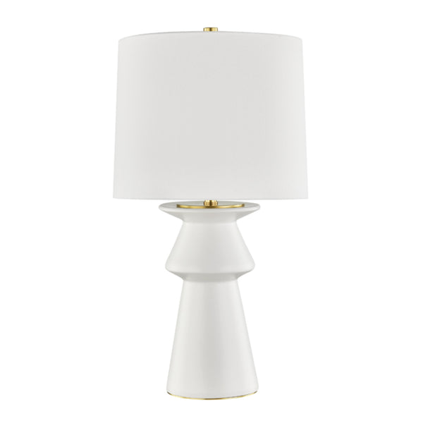 Hudson Valley Lighting L1419-IV Amagansett 1 Light Table Lamp in Ivory