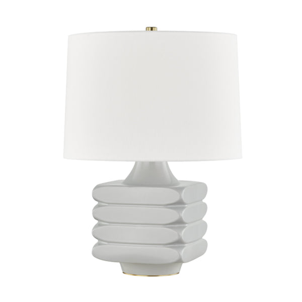 Hudson Valley Lighting L1420-GRY Sag Harbor 1 Light Table Lamp in Gray