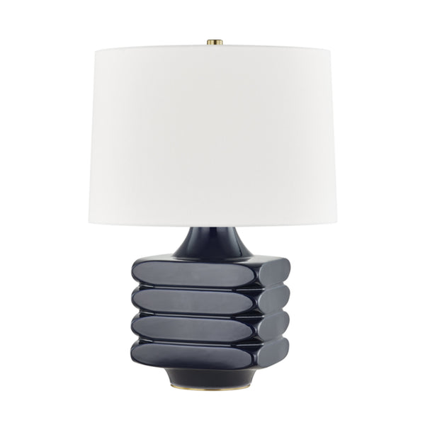Hudson Valley Lighting L1420-MN Sag Harbor 1 Light Table Lamp in Midnight