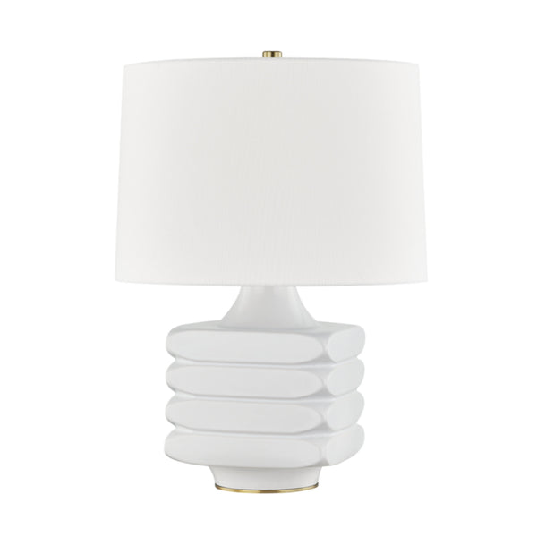 Hudson Valley Lighting L1420-WH Sag Harbor 1 Light Table Lamp in White