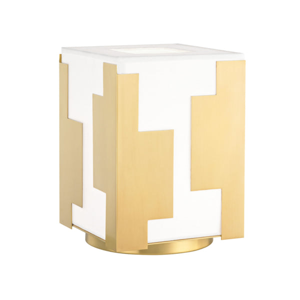 Hudson Valley Lighting L1434-AGB Acadia 1 Light Table Lamp in Aged Brass