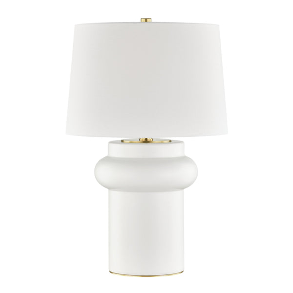 Hudson Valley Lighting L1447-IV Manorville 1 Light Table Lamp in Ivory