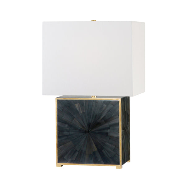 Hudson Valley Lighting L1456-AGB/FDH Greenvale 1 Light Table Lamp in Aged Brass/Faux Dark Horn