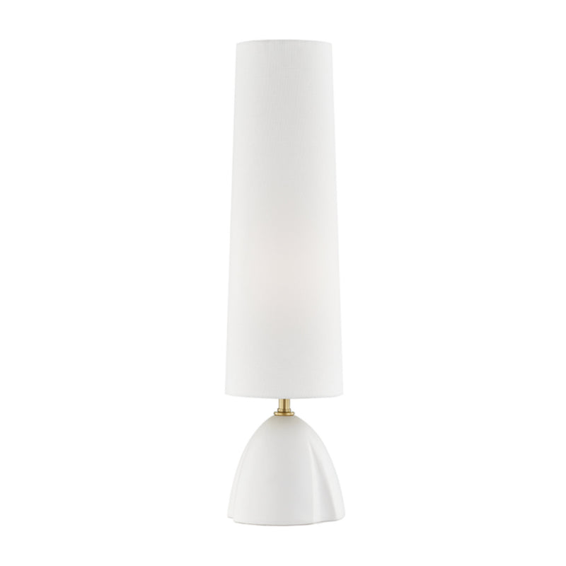 Hudson Valley Lighting L1466-WH Inwood 1 Light Table Lamp in White