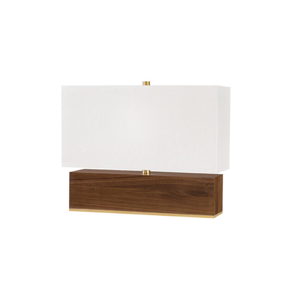 Hudson Valley Lighting L1475-AGB Waltham 1 Light Table Lamp W/ Light Walnut in Aged Brass