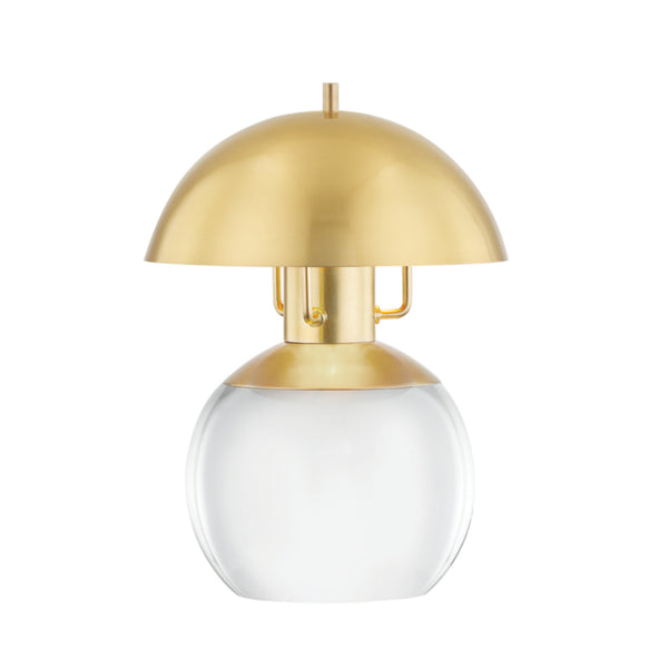 Hudson Valley Lighting L1510-AGB Bayside 1 Light Small Table Lamp in Aged Brass