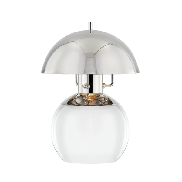 Hudson Valley Lighting L1510-PN Bayside 1 Light Small Table Lamp in Polished Nickel