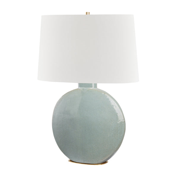 Hudson Valley Lighting L1840-AGB/GRY Kimball 1 Light Table Lamp in Aged Brass/Gray