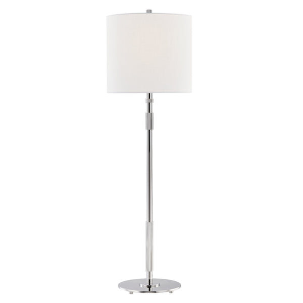 Hudson Valley Lighting L3720-PN Bowery 1 Light Table Lamp in Polished Nickel