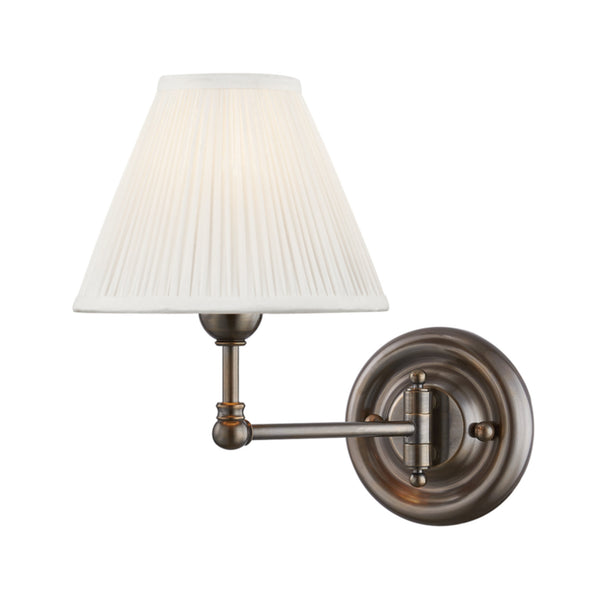 Hudson Valley Lighting MDS101-DB Classic No.1 1 Light Wall Sconce in Distressed Bronze