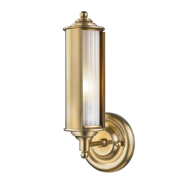 Hudson Valley Lighting MDS103-AGB Classic No.1 1 Light Wall Sconce in Aged Brass