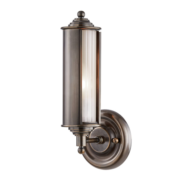 Hudson Valley Lighting MDS103-DB Classic No.1 1 Light Wall Sconce in Distressed Bronze