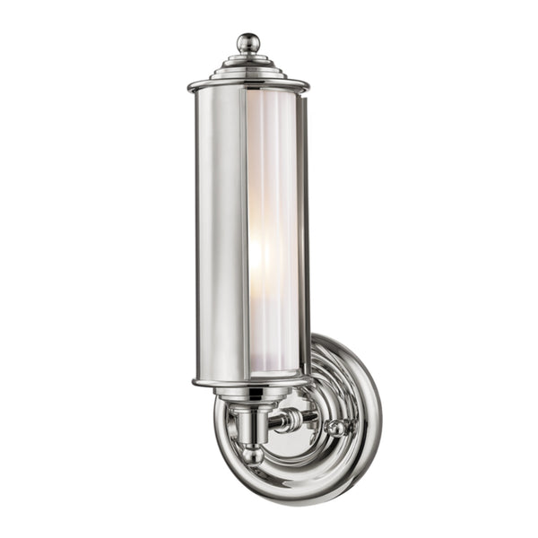 Hudson Valley Lighting MDS103-PN Classic No.1 1 Light Wall Sconce in Polished Nickel