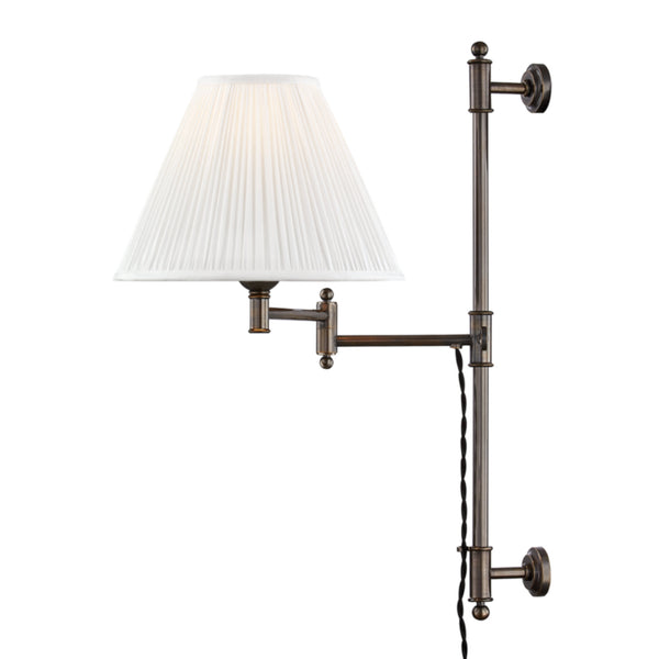 Hudson Valley Lighting MDS104-DB Classic No.1 1 Light Adjustable Wall Sconce in Distressed Bronze
