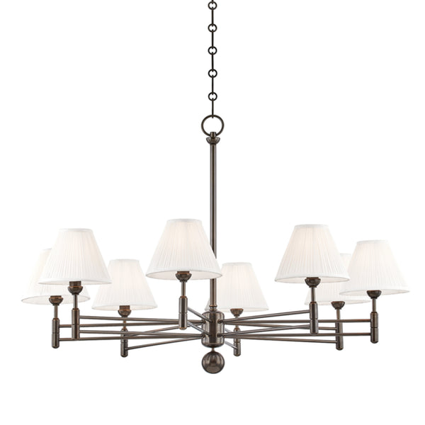 Hudson Valley Lighting MDS106-DB Classic No.1 8 Light Chandelier in Distressed Bronze