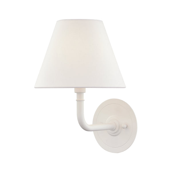 Hudson Valley Lighting MDS601-WH Signature No.1 1 Light Wall Sconce in Soft Off White