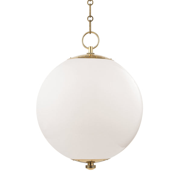 Hudson Valley Lighting MDS701-AGB Sphere No.1 1 Light Large Pendant in Aged Brass