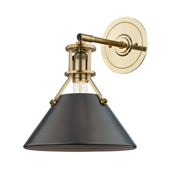 Hudson Valley Lighting MDS950-ADB Metal No.2 1 Light Wall Sconce in Aged/Antique Distressed Bronze