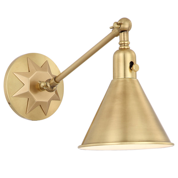 Crystorama MOR-8800-AG Morgan Wall Mount in Aged Brass