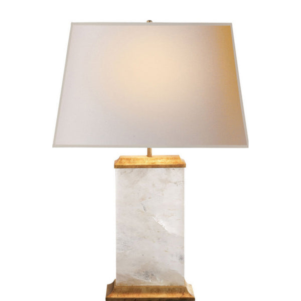 Visual Comfort MS 3002Q-NP Michael S Smith Crescent Table Lamp in Natural Quartz Stone