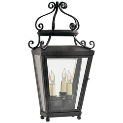 Visual Comfort NW 2702FR-CG Niermann Weeks Lafayette Medium 1/2 Wall Lantern in French Rust