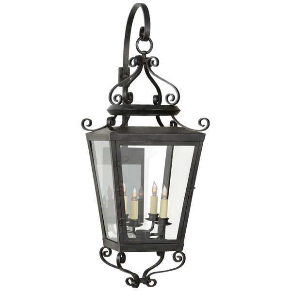 Visual Comfort NW 2703FR-CG Niermann Weeks Traditional Lafayette Large Bracketed Lantern in French Rust