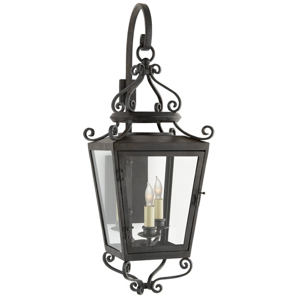Visual Comfort NW 2704FR-CG Niermann Weeks Traditional Lafayette Small Bracketed Lantern in French Rust