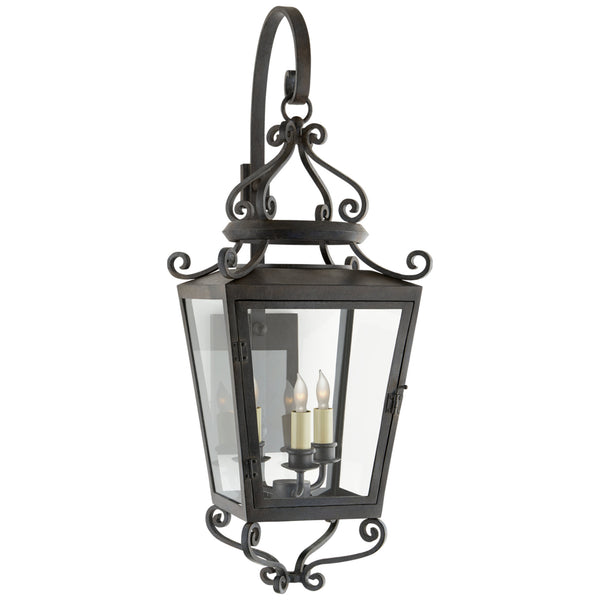 Visual Comfort NW 2705FR-CG Niermann Weeks Traditional Lafayette Medium Bracketed Sconce in French Rust