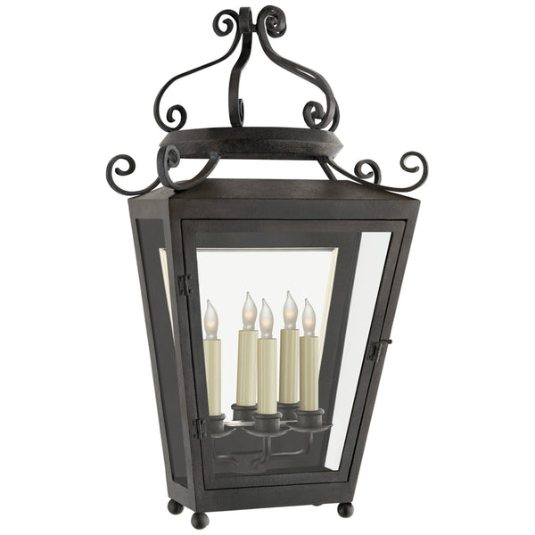 Visual Comfort NW 2707FR-CG Niermann Weeks Traditional Lafayette Large 1/2 Sconce in French Rust
