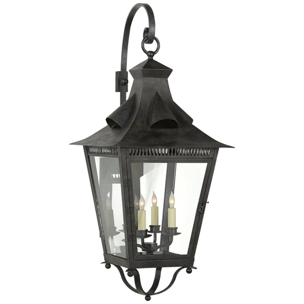 Visual Comfort NW 2709FR-CG Niermann Weeks Traditional Orleans Large Bracketed Lantern in French Rust