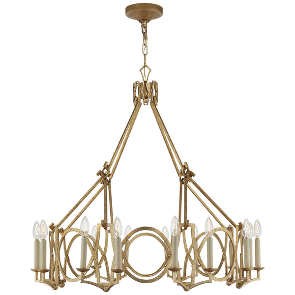 Visual Comfort NW 5011VG Niermann Weeks Brittany Chandelier in Venetian Gold