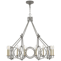 Visual Comfort NW 5011VS Niermann Weeks Brittany Chandelier in Venetian Silver