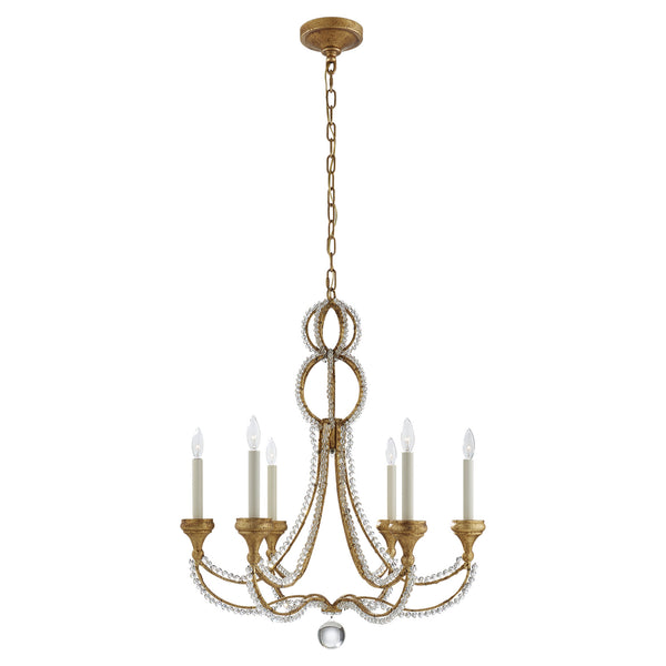 Visual Comfort NW 5030VG Niermann Weeks Milan Medium Chandelier in Venetian Gold