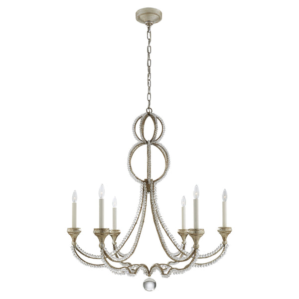 Visual Comfort NW 5031VS Niermann Weeks Milan Large Chandelier in Venetian Silver