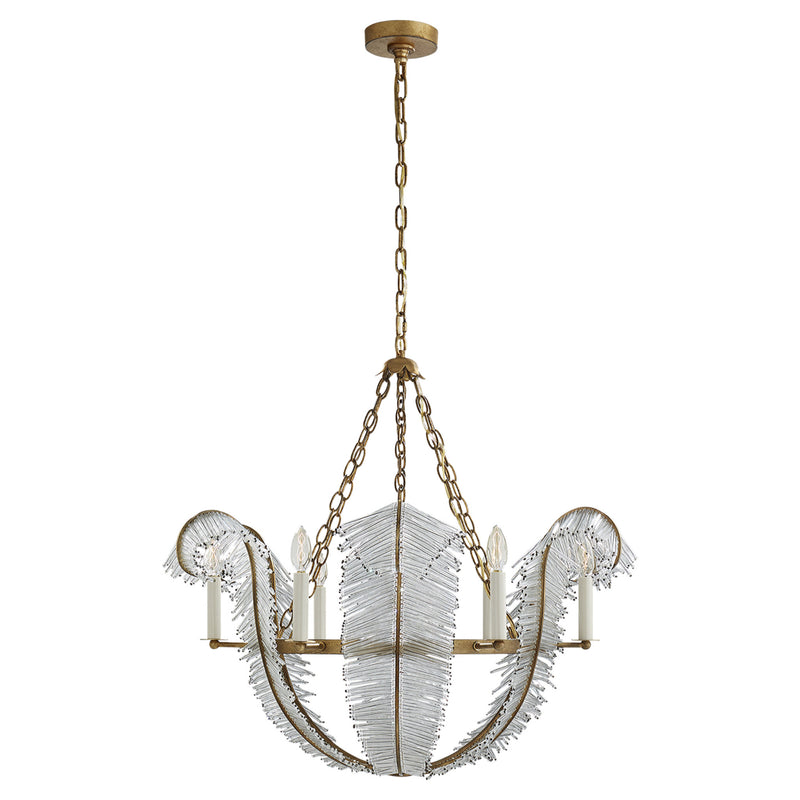 "Visual Comfort NW 5051GI Niermann Weeks Calais 34"" Chandelier in Gilded Iron"