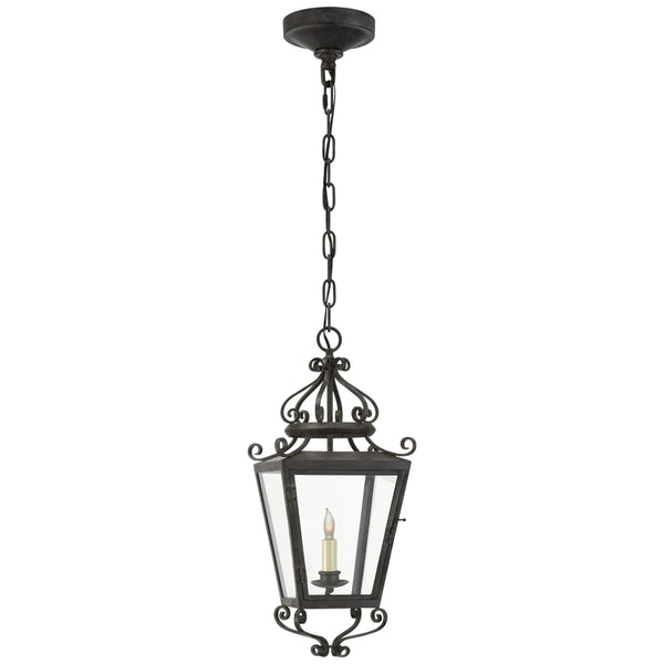 Visual Comfort NW 5702FR-CG Niermann Weeks Traditional Lafayette Small Hanging Lantern in French Rust