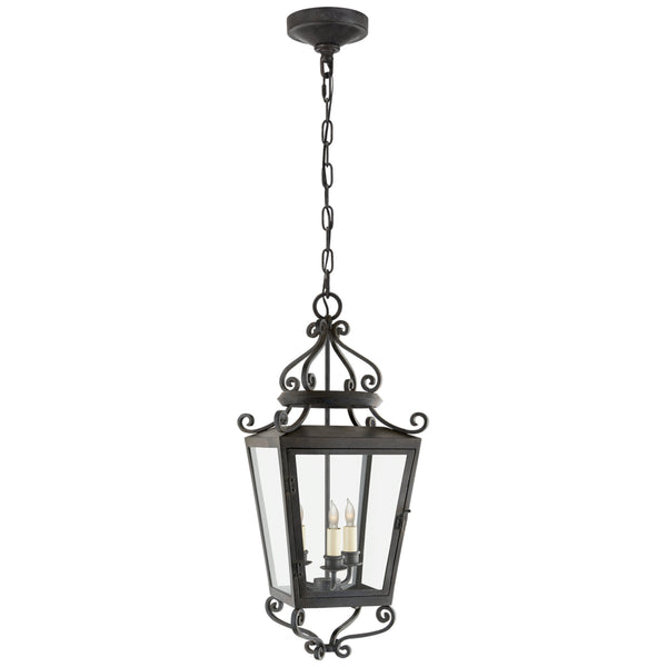 Visual Comfort NW 5703FR-CG Niermann Weeks Traditional Lafayette Medium Hanging Lantern in French Rust
