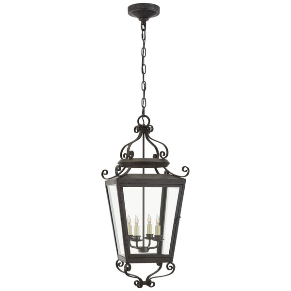 Visual Comfort NW 5704FR-CG Niermann Weeks Traditional Lafayette Large Hanging Lantern in French Rust