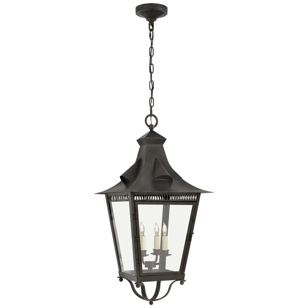 Visual Comfort NW 5709FR-CG Niermann Weeks Traditional Orleans Large Hanging Lantern in French Rust