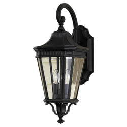 Generation Lighting OL5401BK Feiss Cotswold Lane 2 Light Outdoor Light in Black