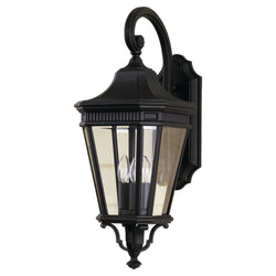 Generation Lighting OL5402BK Feiss Cotswold Lane 3 Light Outdoor Light in Black