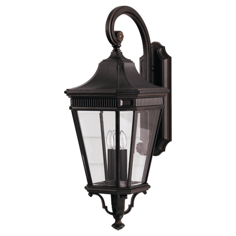 Generation Lighting OL5404GBZ Feiss Cotswold Lane 3 Light Outdoor Light in Grecian Bronze