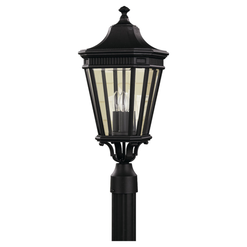 Generation Lighting OL5407BK Feiss Cotswold Lane 3 Light Outdoor Light in Black