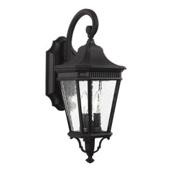 Generation Lighting OL5421BK Feiss Cotswold Lane 2 Light Outdoor Light in Black