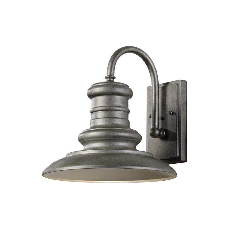 Generation Lighting OL8601TRD-L1 Feiss Redding Station 1 Light 2700K Outdoor Light in Tarnished Silver
