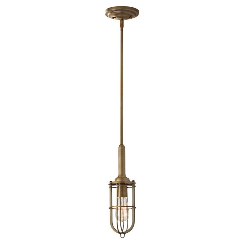 Generation Lighting P1240DAB Feiss Urban Renewal 1 Light Pendant in Dark Antique Brass