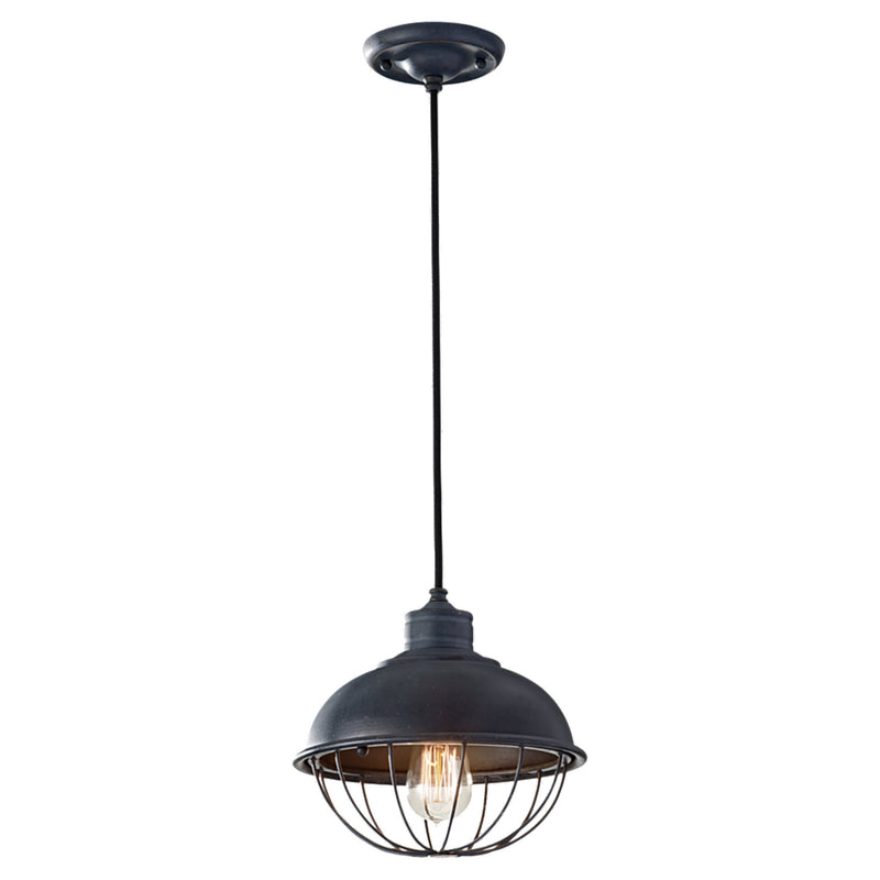 Generation Lighting P1242AF Feiss Urban Renewal 1 Light Pendant in Antique Forged Iron
